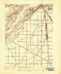 Download a high-resolution, GPS-compatible USGS topo map for Rossford, OH (1934 edition)