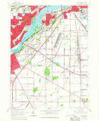 Download a high-resolution, GPS-compatible USGS topo map for Rossford, OH (1967 edition)