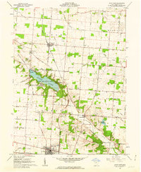 Download a high-resolution, GPS-compatible USGS topo map for Saint Paris, OH (1962 edition)