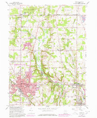 Download a high-resolution, GPS-compatible USGS topo map for Salem, OH (1978 edition)