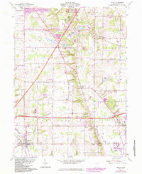 Download a high-resolution, GPS-compatible USGS topo map for Seville, OH (1984 edition)