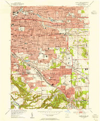 Download a high-resolution, GPS-compatible USGS topo map for Shaker Heights, OH (1955 edition)