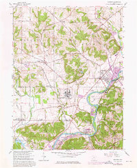 Download a high-resolution, GPS-compatible USGS topo map for Shandon, OH (1976 edition)