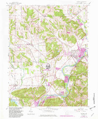 Download a high-resolution, GPS-compatible USGS topo map for Shandon, OH (1982 edition)