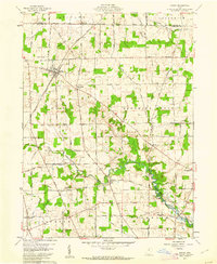 Download a high-resolution, GPS-compatible USGS topo map for Shiloh, OH (1962 edition)