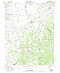 Download a high-resolution, GPS-compatible USGS topo map for South Salem, OH (1990 edition)