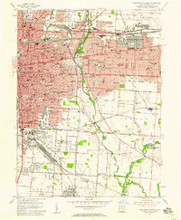 Download a high-resolution, GPS-compatible USGS topo map for Southeast Columbus, OH (1957 edition)