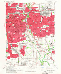 Download a high-resolution, GPS-compatible USGS topo map for Southeast Columbus, OH (1966 edition)
