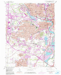 Download a high-resolution, GPS-compatible USGS topo map for Southwest Columbus, OH (1991 edition)