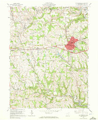 Download a high-resolution, GPS-compatible USGS topo map for St Clairsville, OH (1972 edition)
