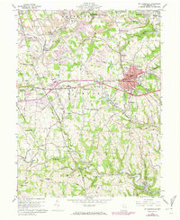 Download a high-resolution, GPS-compatible USGS topo map for St Clairsville, OH (1973 edition)