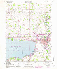 Download a high-resolution, GPS-compatible USGS topo map for St Marys, OH (1983 edition)