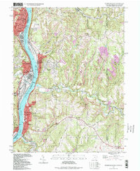 Download a high-resolution, GPS-compatible USGS topo map for Steubenville East, OH (1999 edition)