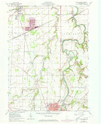 Download a high-resolution, GPS-compatible USGS topo map for Tiffin North, OH (1973 edition)