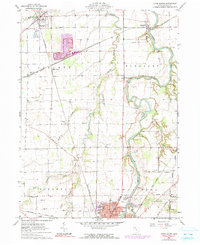 Download a high-resolution, GPS-compatible USGS topo map for Tiffin North, OH (1991 edition)