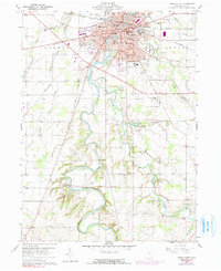 Download a high-resolution, GPS-compatible USGS topo map for Tiffin South, OH (1991 edition)
