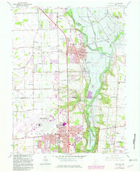 Download a high-resolution, GPS-compatible USGS topo map for Tipp City, OH (1982 edition)