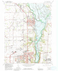 Download a high-resolution, GPS-compatible USGS topo map for Tipp City, OH (1992 edition)