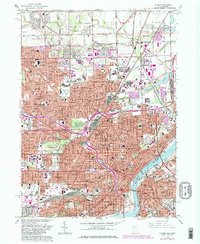 Download a high-resolution, GPS-compatible USGS topo map for Toledo, OH (1980 edition)