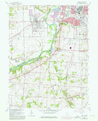Download a high-resolution, GPS-compatible USGS topo map for Trenton, OH (1976 edition)