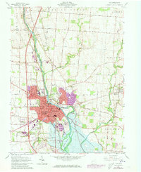 Download a high-resolution, GPS-compatible USGS topo map for Troy, OH (1973 edition)