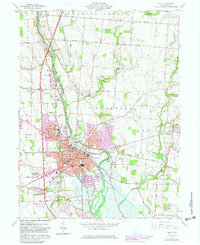 Download a high-resolution, GPS-compatible USGS topo map for Troy, OH (1983 edition)