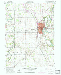 Download a high-resolution, GPS-compatible USGS topo map for Upper Sandusky, OH (1972 edition)