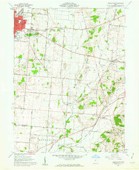 Download a high-resolution, GPS-compatible USGS topo map for Urbana East, OH (1962 edition)