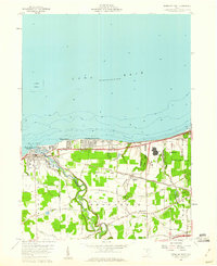Download a high-resolution, GPS-compatible USGS topo map for Vermilion East, OH (1960 edition)