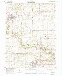 Download a high-resolution, GPS-compatible USGS topo map for Versailles, OH (1974 edition)