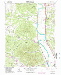 Download a high-resolution, GPS-compatible USGS topo map for Wakefield, OH (1987 edition)