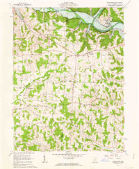 Download a high-resolution, GPS-compatible USGS topo map for Walhonding, OH (1963 edition)