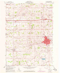 Download a high-resolution, GPS-compatible USGS topo map for Wauseon, OH (1972 edition)