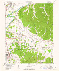 Download a high-resolution, GPS-compatible USGS topo map for Waverly South, OH (1963 edition)