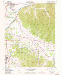 Download a high-resolution, GPS-compatible USGS topo map for Waverly South, OH (1972 edition)