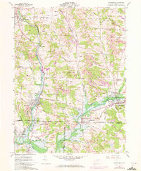 Download a high-resolution, GPS-compatible USGS topo map for Waynesburg, OH (1972 edition)