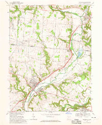 Download a high-resolution, GPS-compatible USGS topo map for Waynesville, OH (1970 edition)