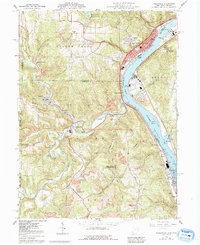 Download a high-resolution, GPS-compatible USGS topo map for Wellsville, OH (1992 edition)