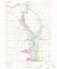 Download a high-resolution, GPS-compatible USGS topo map for West Milton, OH (1974 edition)
