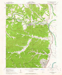 Download a high-resolution, GPS-compatible USGS topo map for West Portsmouth, OH (1963 edition)