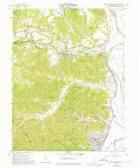 Download a high-resolution, GPS-compatible USGS topo map for West Portsmouth, OH (1976 edition)