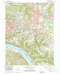 Download a high-resolution, GPS-compatible USGS topo map for Withamsville, OH (1992 edition)