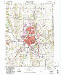 Download a high-resolution, GPS-compatible USGS topo map for Wooster, OH (1998 edition)