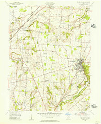Download a high-resolution, GPS-compatible USGS topo map for Yellow Springs, OH (1956 edition)