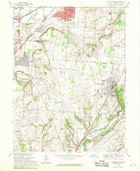 Download a high-resolution, GPS-compatible USGS topo map for Yellow Springs, OH (1970 edition)
