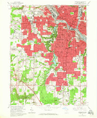Download a high-resolution, GPS-compatible USGS topo map for Youngstown, OH (1965 edition)