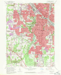 Download a high-resolution, GPS-compatible USGS topo map for Youngstown, OH (1971 edition)
