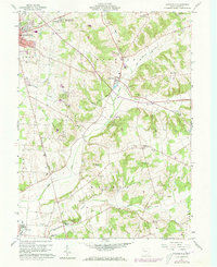 Download a high-resolution, GPS-compatible USGS topo map for Zanesfield, OH (1973 edition)
