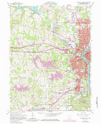 Download a high-resolution, GPS-compatible USGS topo map for Zanesville West, OH (1985 edition)