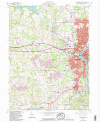 Download a high-resolution, GPS-compatible USGS topo map for Zanesville West, OH (1995 edition)